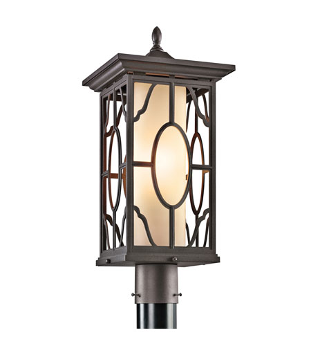 Kichler Lighting Mackenzie 1 Light Outdoor Post Lantern in Architectural Bronze 49042AZ photo