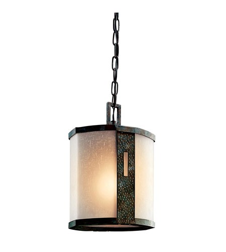Kichler Lighting Montara 1 Light Outdoor Pendant in Old Iron 49049OI photo