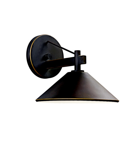 Kichler Lighting Ripley 1 Light Outdoor Wall Lantern in Olde Bronze 49060OZ photo