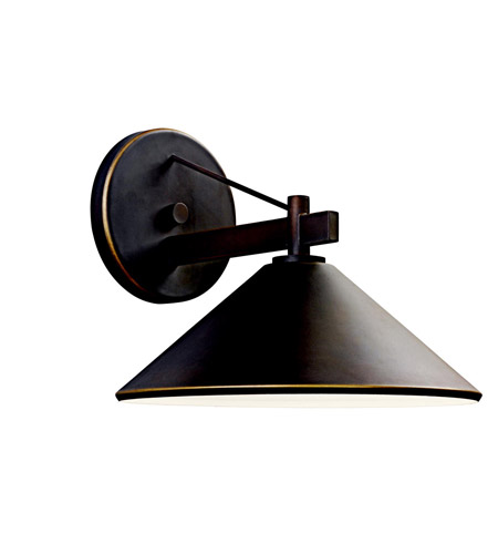 Kichler Lighting Ripley 1 Light Outdoor Wall Lantern in Olde Bronze 49061OZ photo