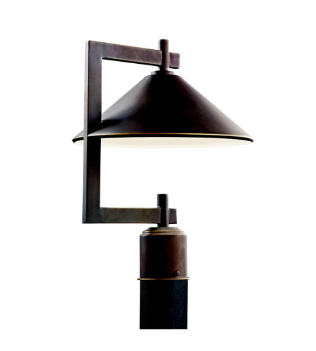 Kichler Lighting Ripley 1 Light Outdoor Post Lantern in Olde Bronze 49063OZ photo
