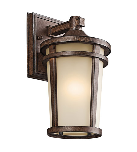 Kichler Lighting Atwood 1 Light Outdoor Wall Lantern in Brown Stone 49071BST photo