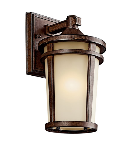 Kichler 49071BSTFL Atwood 1 Light 11 inch Brown Stone Fluorescent Outdoor Wall Lantern photo