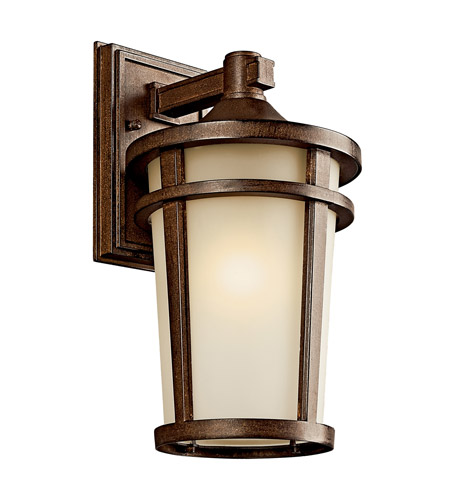 Kichler Lighting Atwood 1 Light Fluorescent Outdoor Wall Lantern in Brown Stone 49072BSTFL photo