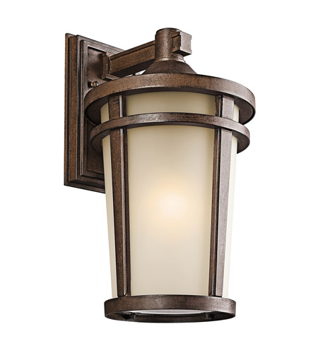 Kichler Lighting Atwood 1 Light Outdoor Wall Lantern in Brown Stone 49073BST photo