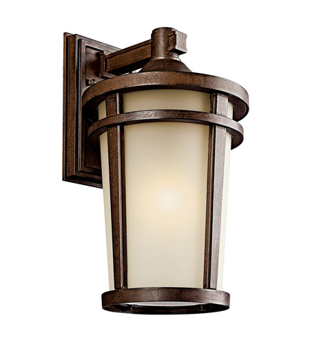 Kichler 49073BSTFL Atwood 1 Light 18 inch Brown Stone Fluorescent Outdoor Wall Lantern photo