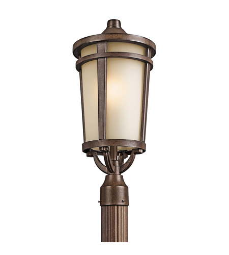 Kichler 49074BST Atwood 1 Light 22 inch Brown Stone Outdoor Post Lantern in Standard photo