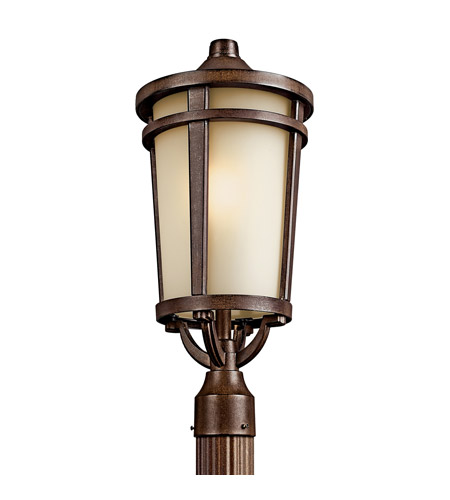 Kichler 49074BSTFL Atwood 1 Light 22 inch Brown Stone Fluorescent Outdoor Post photo