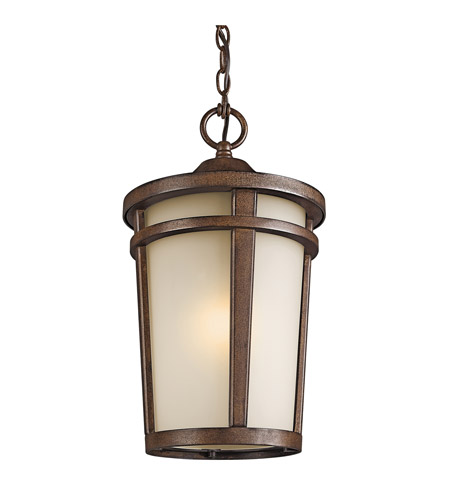 Kichler Lighting Atwood 1 Light Outdoor Pendant in Brown Stone 49075BST