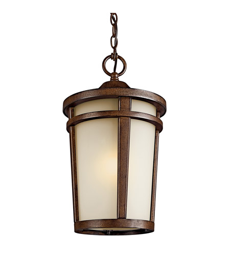 Kichler Lighting Atwood 1 Light Fluorescent Outdoor Ceiling in Brown Stone 49075BSTFL photo