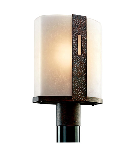 Kichler Lighting Montara 1 Light Outdoor Post Lantern in Old Iron 49080OI photo