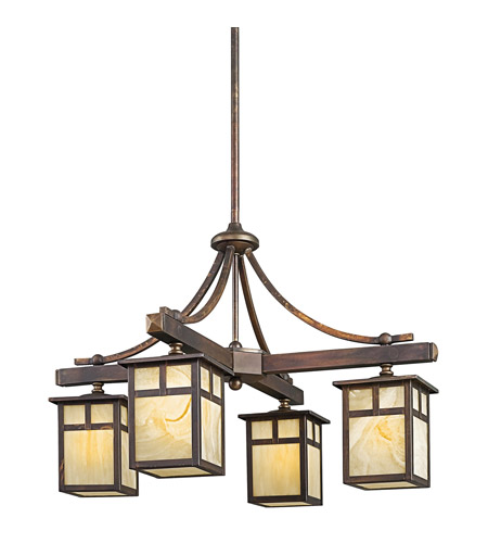 Kichler 49091CV Alameda 4 Light 25 inch Canyon View Outdoor Chandelier photo