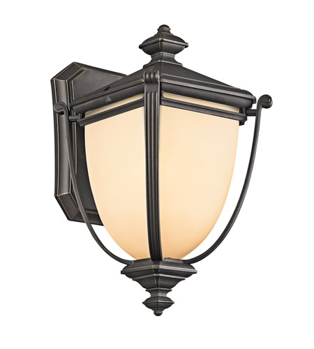 Kichler Lighting Warner Park 1 Light Outdoor Wall Lantern in Rubbed Bronze 49100RZ photo
