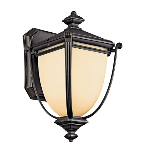 Kichler Lighting Warner Park 1 Light Fluorescent Outdoor Wall Lantern in Rubbed Bronze 49100RZFL photo