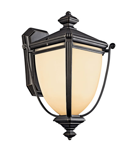 Kichler Lighting Warner Park 1 Light Fluorescent Outdoor Wall Lantern in Rubbed Bronze 49101RZFL