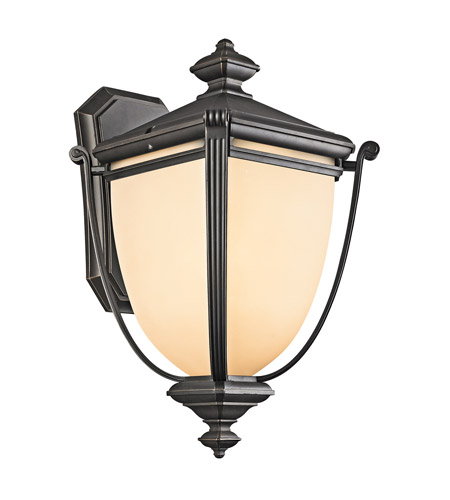 Kichler Lighting Warner Park 1 Light Outdoor Wall Lantern in Rubbed Bronze 49102RZ photo