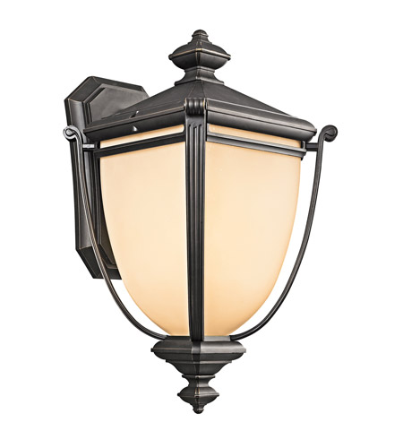Kichler Lighting Warner Park 1 Light Outdoor Wall Lantern in Rubbed Bronze 49103RZ photo