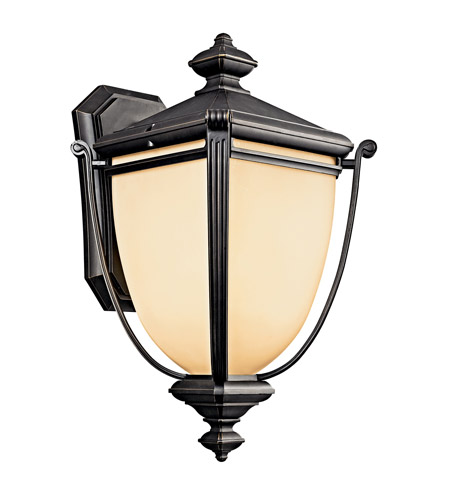 Kichler Lighting Warner Park 1 Light Fluorescent Outdoor Wall Lantern in Rubbed Bronze 49103RZFL