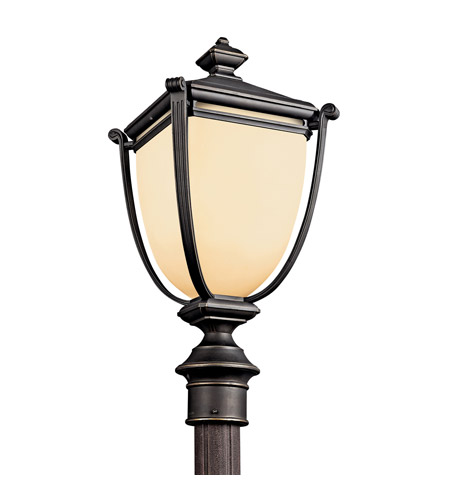 Kichler Lighting Warner Park 1 Light Fluorescent Outdoor Post in Rubbed Bronze 49104RZFL photo