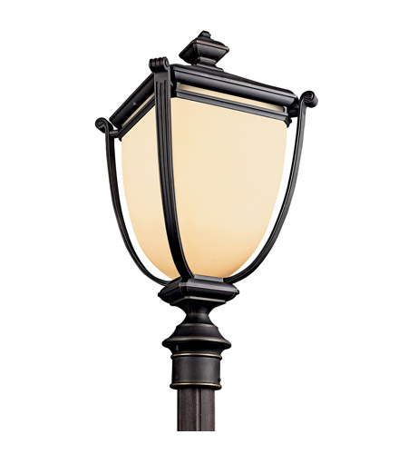 Kichler Lighting Warner Park 1 Light Fluorescent Outdoor Post in Rubbed Bronze 49105RZFL photo