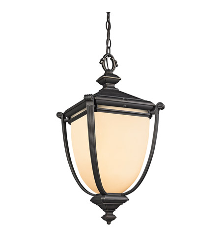 Kichler Lighting Warner Park 1 Light Outdoor Pendant in Rubbed Bronze 49106RZ photo