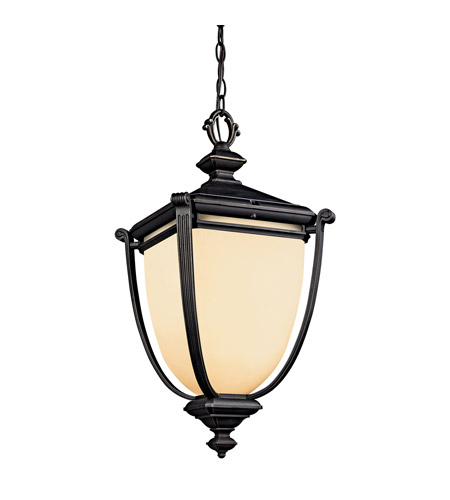 Kichler Lighting Warner Park 1 Light Fluorescent Outdoor Ceiling in Rubbed Bronze 49106RZFL photo