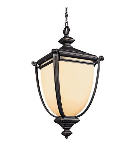 Kichler Lighting Warner Park 1 Light Fluorescent Outdoor Ceiling in Rubbed Bronze 49107RZFL photo