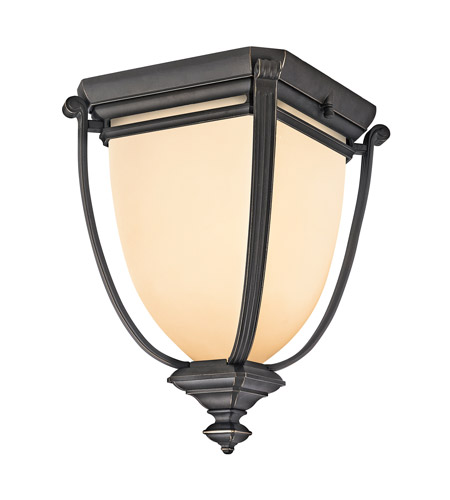 Kichler Lighting Warner Park 1 Light Outdoor Flush Mount in Rubbed Bronze 49108RZ