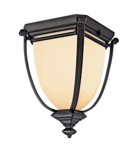 Kichler Lighting Warner Park 2 Light Fluorescent Outdoor Ceiling in Rubbed Bronze 49108RZFL photo