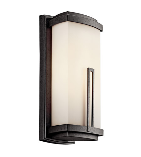 Kichler Lighting Leeds 1 Light Fluorescent Outdoor Wall Lantern in Anvil Iron 49112AVIFL photo