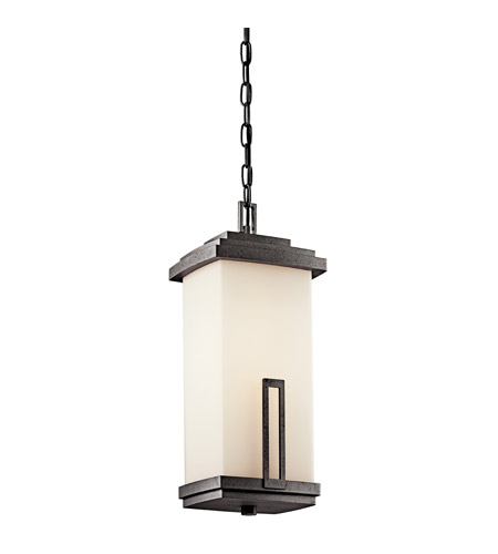 Kichler Lighting Leeds 1 Light Fluorescent Outdoor Ceiling in Anvil Iron 49115AVIFL