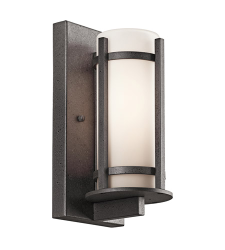 Kichler 49119AVI Camden 1 Light 11 inch Anvil Iron Outdoor Wall Lantern in Standard photo