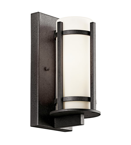 Kichler Lighting Camden 1 Light Fluorescent Outdoor Wall Lantern in Anvil Iron 49119AVIFL photo
