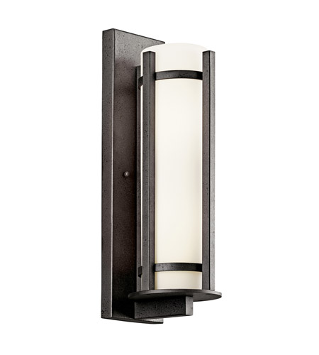 Kichler Lighting Camden 3 Light Fluorescent Outdoor Wall Lantern in Anvil Iron 49122AVIFL photo
