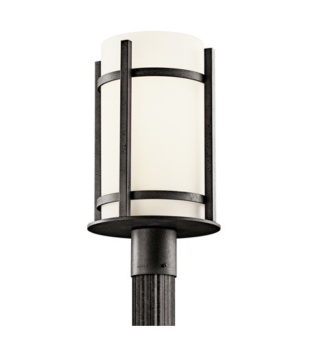 Kichler Lighting Camden 1 Light Fluorescent Outdoor Post in Anvil Iron 49123AVIFL photo