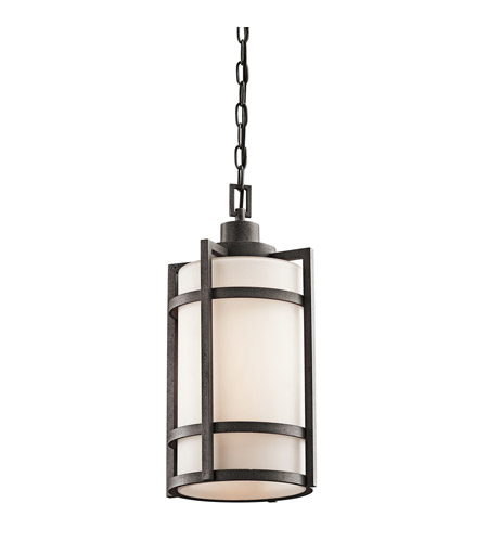 Kichler Lighting Camden 1 Light Outdoor Pendant in Anvil Iron 49124AVI photo