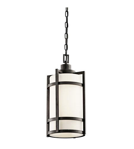 Kichler Lighting Camden 1 Light Fluorescent Outdoor Ceiling in Anvil Iron 49124AVIFL
