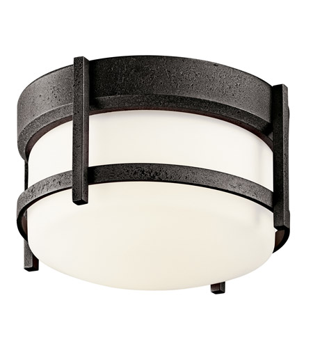 Kichler Lighting Camden 1 Light Fluorescent Outdoor Ceiling in Anvil Iron 49125AVIFL photo