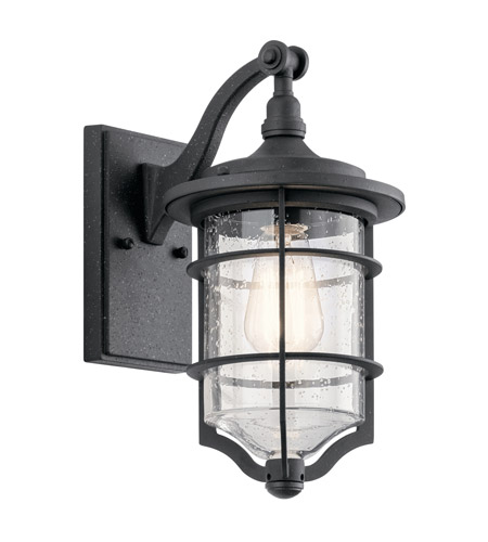 Kichler 49126dbk royal marine 1 light 13 inch distressed black outdoor wall light small