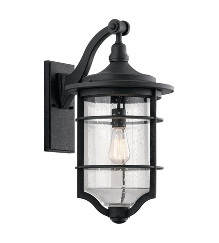 Royal Marine 1 Light 22 Inch Distressed Black Outdoor Wall Large
