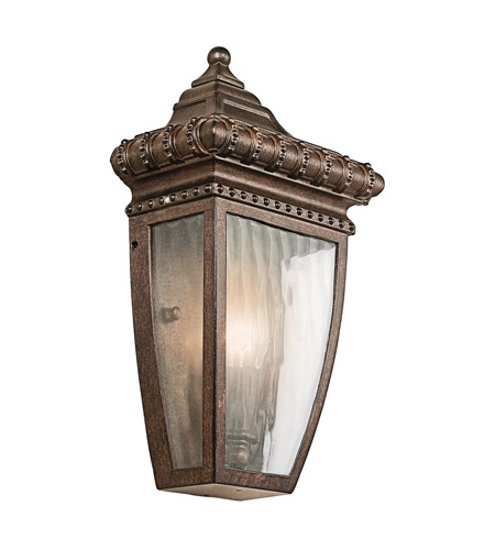 Kichler 49130BRZ Venetian Rain 1 Light 12 inch Bronze Outdoor Wall Lantern photo