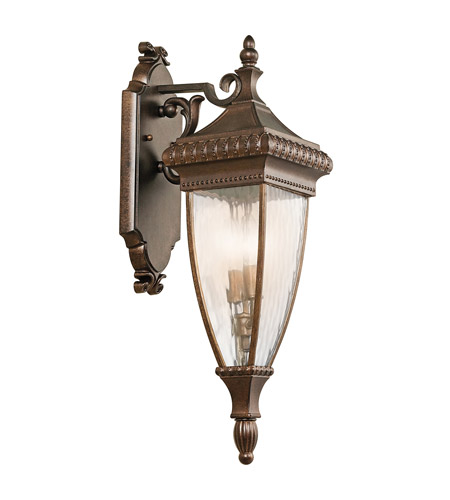 Kichler Lighting Venetian Rain 2 Light Outdoor Wall Lantern in Bronze 49131BRZ
