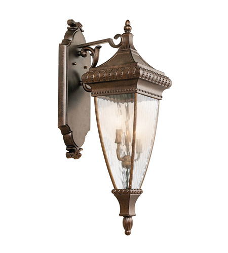 Kichler Lighting Venetian Rain 3 Light Outdoor Wall Lantern in Bronze 49132BRZ