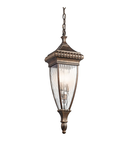 Kichler 49134BRZ Venetian Rain 2 Light 7 inch Bronze Outdoor Pendant photo