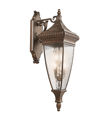 Kichler Lighting Venetian Rain 4 Light Outdoor Wall Lantern in Bronze 49135BRZ photo