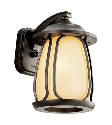 Kichler Lighting Pasadena 1 Light Fluorescent Outdoor Wall Lantern in Olde Bronze 49137OZFL