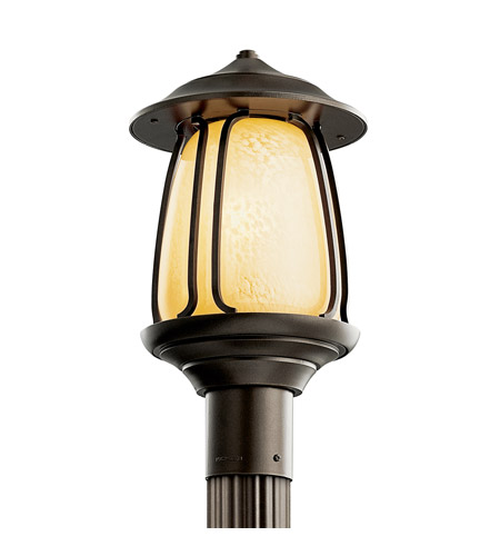 Kichler Lighting Pasadena 1 Light Fluorescent Outdoor Post in Olde Bronze 49141OZFL