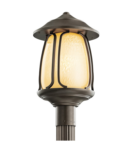 Kichler Lighting Pasadena 1 Light Outdoor Post Lantern in Olde Bronze 49142OZ photo