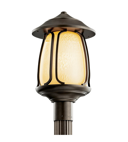 Kichler Lighting Pasadena 1 Light Fluorescent Outdoor Post in Olde Bronze 49142OZFL photo