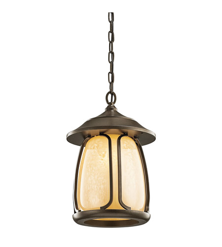Kichler Lighting Pasadena 1 Light Outdoor Pendant in Olde Bronze 49143OZ photo
